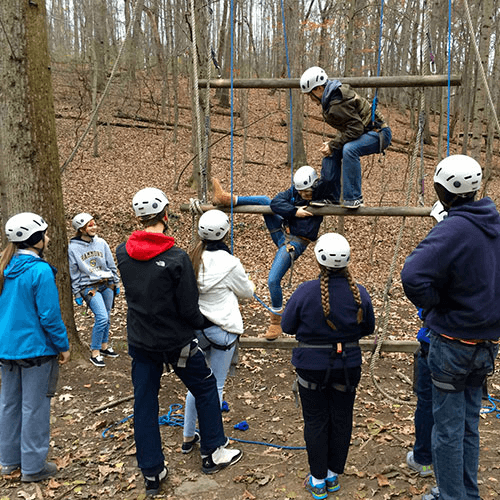 The Challenge Course at Butler School provides teambuilding and adventure for youth and adults in the DC/MD/VA metro area.