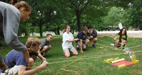Portable Team Building activities for youth and adult groups in Maryland, Virginia and Washington, DC - https://www.go-adventures.com/team-building/portable-team-challenge/
