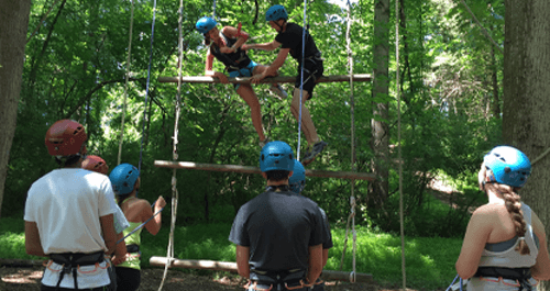 Ropes Challenge Course Team Building for groups near Maryland, Virginia and Washington, DC - https://www.go-adventures.com/team-building/ropes-challenge-course/